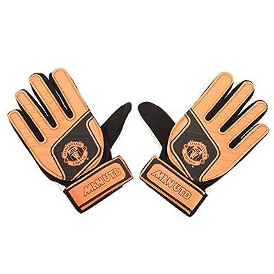 Manchester United FC Childrens/Kids Official Soccer Crest Goalkeeper Gloves