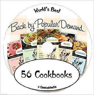 56 Cookbooks on CD breakfast lunch dinner dessert grilling international