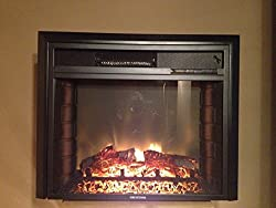 """Rv Electric Fireplace 26"""" With Remote And Radius Front by Greystone"""