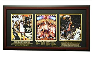 NBA Miami Heat 2012-2013 Champions Limited Edition Triple Frame by Caseworks