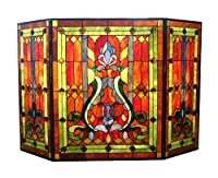River of Goods 8221 Stained Glass Firepl...