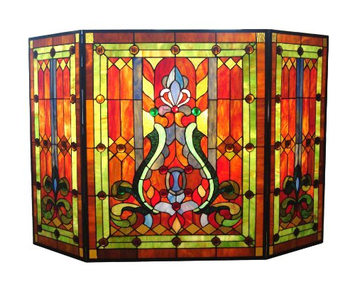River Of Goods 8221 Stained Glass Fireplace Screen Home Decor