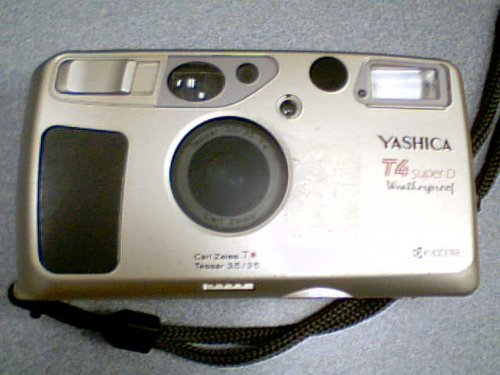 Kyocera Yashica T4 SUPER D Weatherproof Super Scope 35mm Camera w/ Carl Zeiss Tessar 3.5/35 T* Carl Zeiss T* Tessar 3.5/35 Camera (Champagne Goldish Color Version)(Made in Japan) (Yashica 35 compare prices)