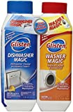 Glisten MDAO6T Dishwasher Magic/Washer Magic Twin Pack-Includes 12 ounces of Dishwasher Magic and 12 ounces of Washer Magic""