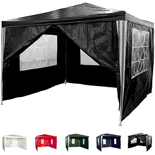 pavillon 3x3m wasserdicht 4 seitenteile 3x mit fenster. Black Bedroom Furniture Sets. Home Design Ideas