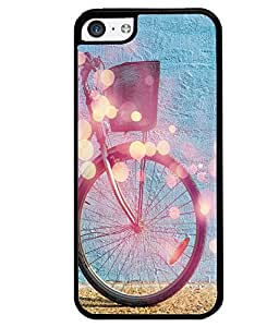 PrintVisa Metal Printed Cycle Designer Back Case Cover for Apple iPhone 5C-D4912