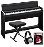 Korg LP-350 Black Digital Piano ESSENTIALS BUNDLE w/ Bench, Headphones