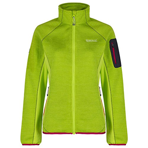 Regatta-Laney-II-Damen-Strickjacke-Jacke-Strick-Fleecejacke-Lime-Zest-Gre48