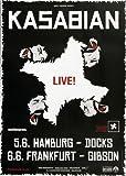 Kasabian Velociraptor 2012 - Concert Poster Concertposter