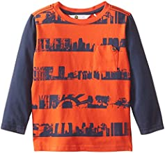 Petit Lem Little Boys39 Long Sleeve Jersey Printed Top