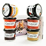 Cavi-Art Kelp Caviar 6 Jar Collection and Recipe Booklet (21.18 ounce) by Cavi-Art