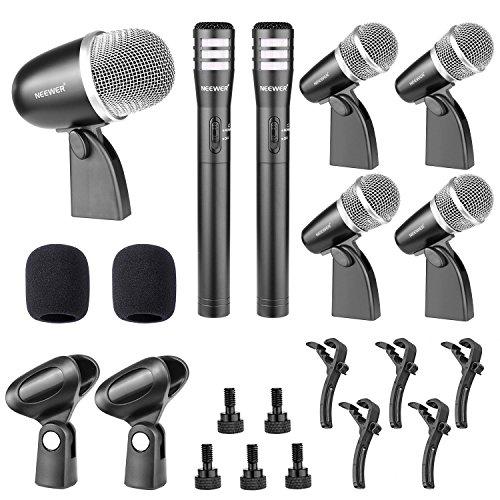 neewerr-nw-7a-microfono-con-conexion-de-cable-kit-para-tambor-y-otros-instrumentos-musicales-incluye