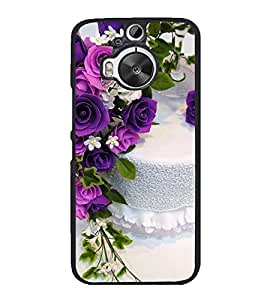 Cake and Flowers 2D Hard Polycarbonate Designer Back Case Cover for HTC One M9 Plus :: HTC One M9+ :: HTC One M9+ Supreme Camera