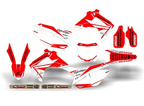 SCRUB DESIGNZ Honda CRF 250R 2014-2016 RAPTOR ST complete decals kit (Honda Crf 250r Graphics compare prices)
