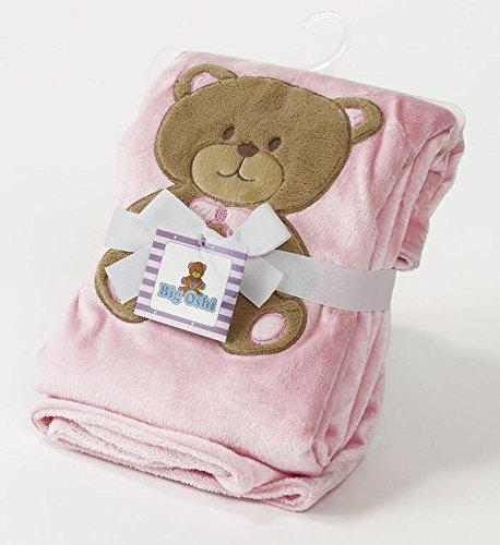 Big Oshi Teddy Super Soft Plush Baby Swaddling Blanket - Pink