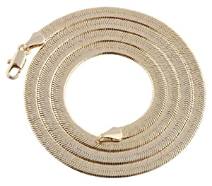 JOTW 2 Pieces of Goldtone 4mm 20 Inch Herringbone Chain Necklace