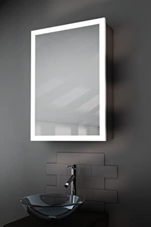 Amara Edge Bathroom Cabinet With Demister, Sensor & Shaver k418