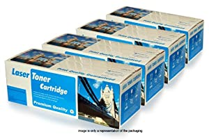 Badger Inks Full Set Compatible Laser Toner Cartridges to Replace HP 121A / HP-C9700A