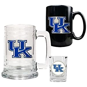 Great American Products Kentucky Wildcats 15oz Tankard, 15oz Ceramic Mug & 2oz... by Great American Products