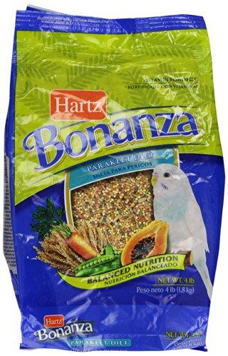 Hartz Bonanza 4-Pound Gourmet Diet Supply, Parakeet