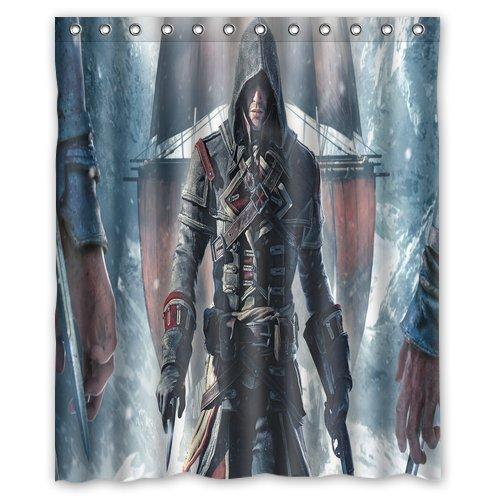 "Assassins Creed Stampa tenda doccia in tessuto di poliestere (60""x 72cm)"