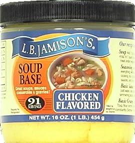 LB Jamison Regular Soup Base Chicken 16.0 OZ (pack of 6)