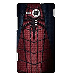 Printvisa Spider Man Web Back Case Cover for Sony Xperia SP::Sony Xperia SP M35h