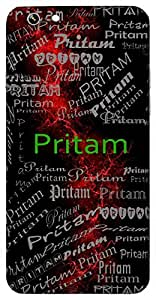 Pritam (Lover) Name & Sign Printed All over customize & Personalized!! Protective back cover for your Smart Phone : Samsung Galaxy Note-5