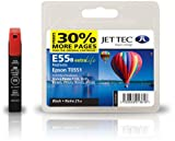 Jettec T0551 Black Epson Compatible Printer Ink Cartridge for Epson Stylus Photo R240 R245 RX400 RX420 RX425 RX430 RX520
