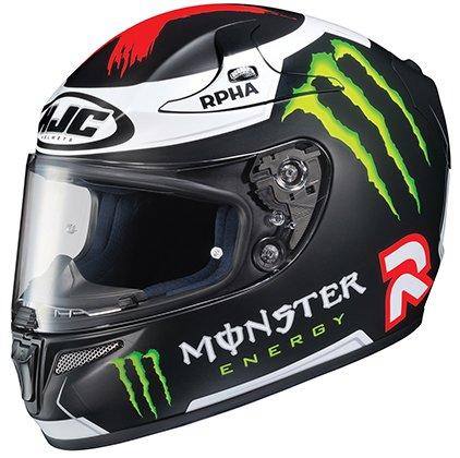 HJC RPHA-10 Pro Lorenzo Replica III Full-Face Motorcycle Helmet (Black, Medium)