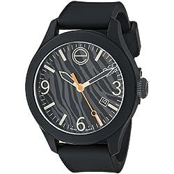 ESQ by Movado Zebra Print Women's Quartz Watch - Black
