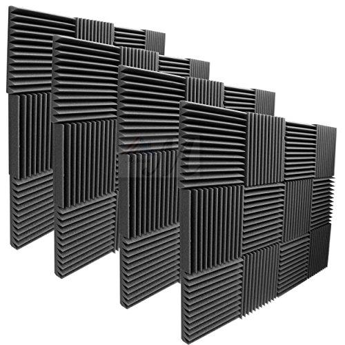 mybecca-48-pack-acoustic-foam-panels-2-x-12-x-12-studio-wedges-wall-tiles-48-square-feet-charcoal