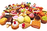 10 of Assorted FOOD CAKE DESSERT Japanese Erasers IWAKO (10 erasers will be randomly selected from the image shown)