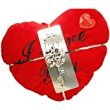 Toc Love Sentiment Pendant & Plush Red Heart Cushion I Love You Gift Set -Style2