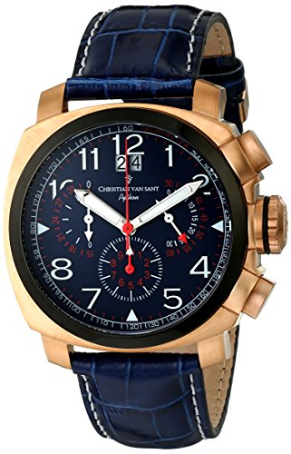 Christian-Van-Sant-Mens-CV3AU5-Grand-Python-Analog-Display-Swiss-Quartz-Blue-Watch