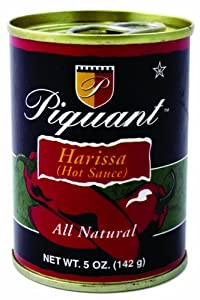 Piquant Harissa (Hot Sauce), 5-Ounce Cans (Pack of 48) from Piquant