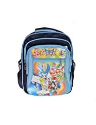 Artisan Crafted Armor Hero- Robots Cartoon Character School Bag/ Backpack (Blue/ Navy Blue) For Kids/ Boys/ Girls