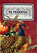 Give Thanks Pheasant Thanksgiving Garden Flag Fall Autumn Harvest Decorative