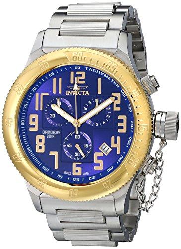 Invicta Men's 15555 Russian Diver Analog Display Swiss Quartz Silver Watch - 1