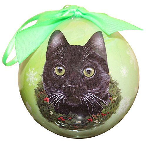 Black Cat Christmas Tree Ornament