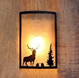 Logam Deer at sunset Metal Wall Lamp
