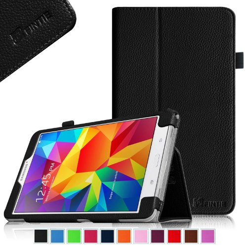 Review Of Fintie Samsung Galaxy Tab 4 8.0 Folio Case – Slim Fit Premium Vegan Leather Cover for Samsung Tab 4 8-Inch Tablet (with Auto Sleep/Wake Feature), Black