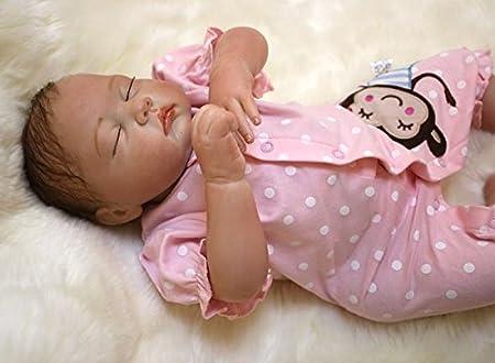 NPK 22inch 55CM pas cher reborn bébé dolls fille Poupées vinyl soft silicone réaliste baby Jouets magnétiques