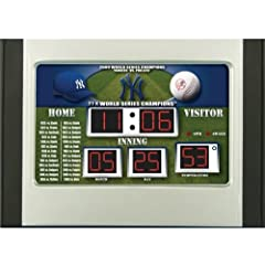 New York Yankees Scoreboard Desk & Alarm Clock by Hall of Fame Memorabilia