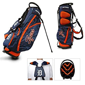 MLB Detroit Tigers Fairway Stand Golf Bag, Orange by Team Golf