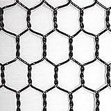 ビニール亀甲金網 (黒) 線径番25 線径0.45mm 目合16mm 幅1000mm×長さ25m 【光洋金網】 代引不可