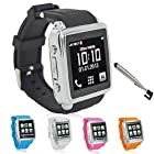Bluetooth Sync Data Smart Watch Phone GSM MP3 MP4 Touch Screen Camera (Black)