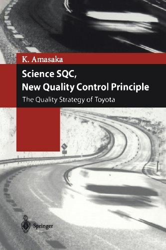 Ciencia SQC, nuevo principio de Control de calidad: La estrategia de calidad de Toyota