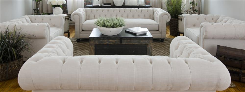 4-Pc Sectional Sofa Set in Seashell