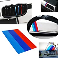Ijdmtoy 1 10 M-colored Stripe Decal Sticker For Bmw Exterior Or Interior Decoration Such As Grille Fender Hood Side Skirt Bumper Side Mirror Dashboard Steering Wheel Etc by iJDMTOY Auto Accessories